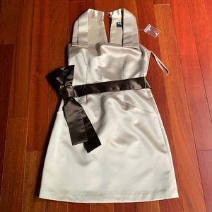 BCBG stunning dress NWOT champagne size 4